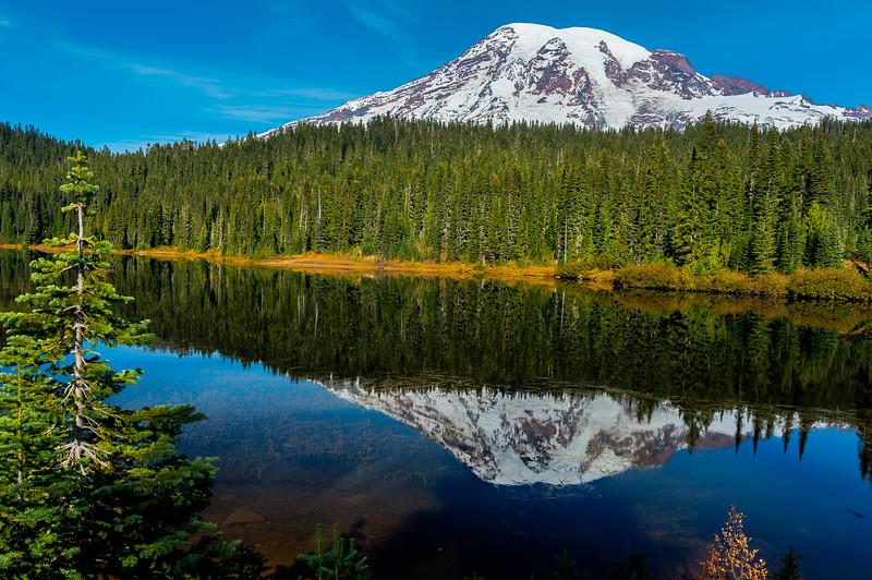 Reflection lake at morning,  Washington