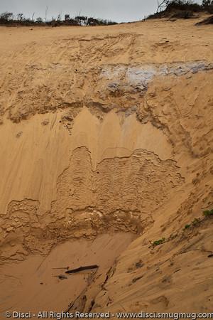 "Sand pattern looking a bit like ""The Brain"" at Uluru - Rainbow Beach, Queensland, Australia; June 2010"