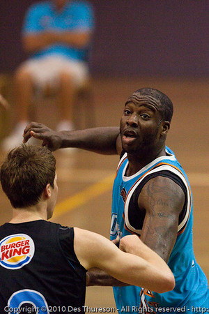 James Maye - Gold Coast Blaze v New Zealand Breakers NBL basketball pre-season game; 4 October 2010, Carrara Stadium, Gold Coast, Queensland, Australia