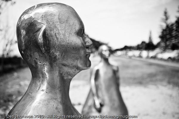 "L'Artiste, by Frederic Berjot - Swell Sculpture Festival, Pacific Parade, Currumbin Beach, Gold Coast, Australia; 15 September 2010. -  <a href=""http://www.swellsculpture.com.au"">http://www.swellsculpture.com.au</a>. (Alternate Processing): Lightroom Preset: ""Stark Raging Black Curve""."