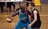 Tom Abercrombie defends James Maye - Gold Coast Blaze v New Zealand Breakers NBL basketball pre-season game; 4 October 2010, Carrara Stadium, Gold Coast, Queensland, Australia
