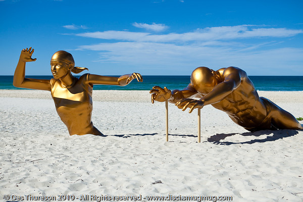 "The Race, by John Cox - Swell Sculpture Festival, Pacific Parade, Currumbin Beach, Gold Coast, Australia; 15 September 2010. -  <a href=""http://www.swellsculpture.com.au"">http://www.swellsculpture.com.au</a>"
