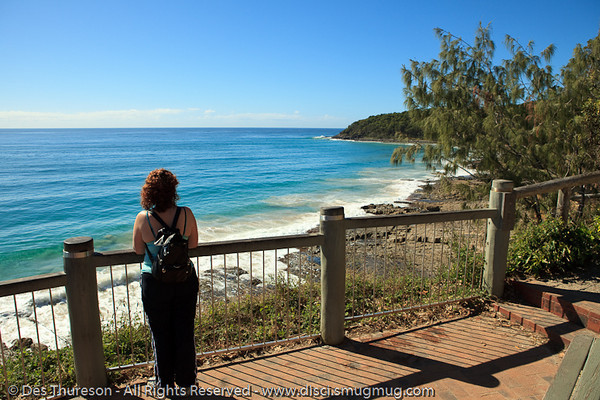 """The view from the """"Boiling Pot"""" - Noosa National Park, Sunshine Coast, Queensland, Australia; 13 July 2010."""