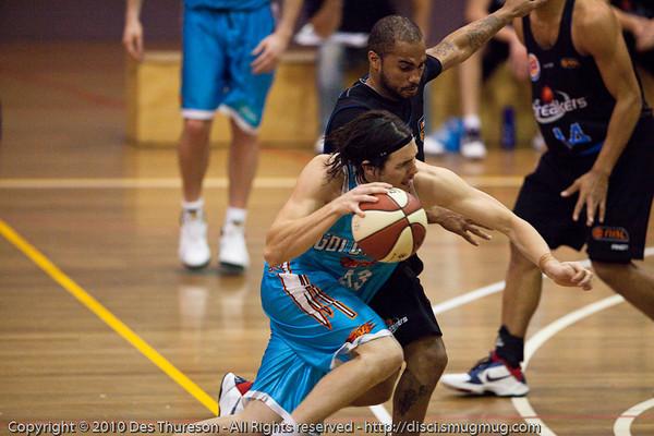 Chris Goulding - Gold Coast Blaze v New Zealand Breakers NBL basketball pre-season game; 4 October 2010, Carrara Stadium, Gold Coast, Queensland, Australia