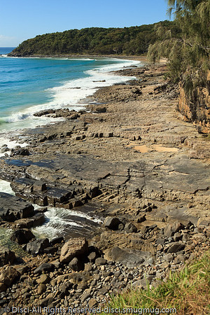 The wave cut platform between the Boiling Pot and Tea Tree Bay - Noosa National Park, Sunshine Coast, Queensland, Australia; 13 July 2010.