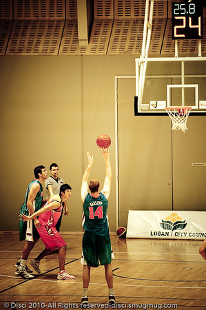 "(Alternate Processing) - Pre-Season NBL International Basketball: Gold Coast Blaze v Anyang KT & G Kites - Korea; Logan City, Queensland, Australia; 2010. (Lightroom Preset: ""Matt's Cutting Edge"".)"