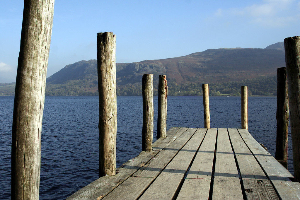 Ferry boat pier on Derwent water. We had just finished walking Cats Bells - its behind you from this view point - and were waiting for a ferry back to Keswick