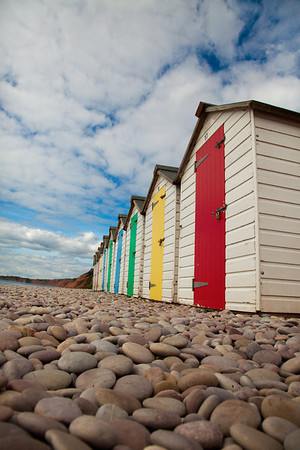 great beach huts - then used for an hdr image