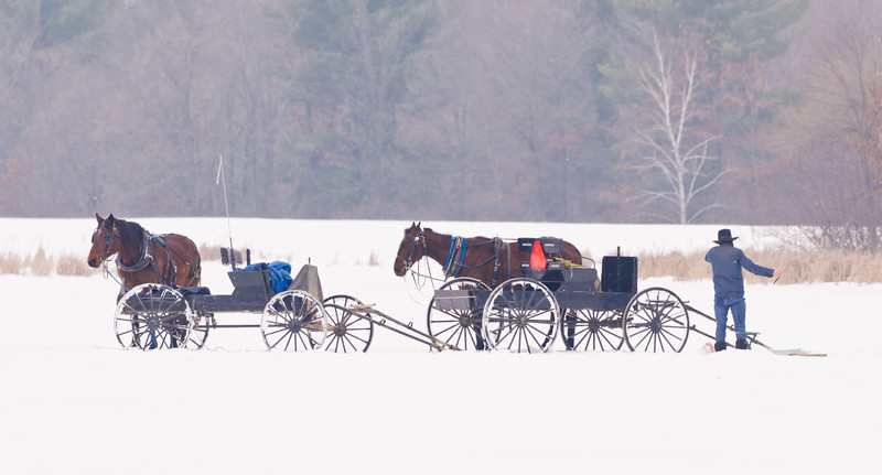 Amish Ice Fishing