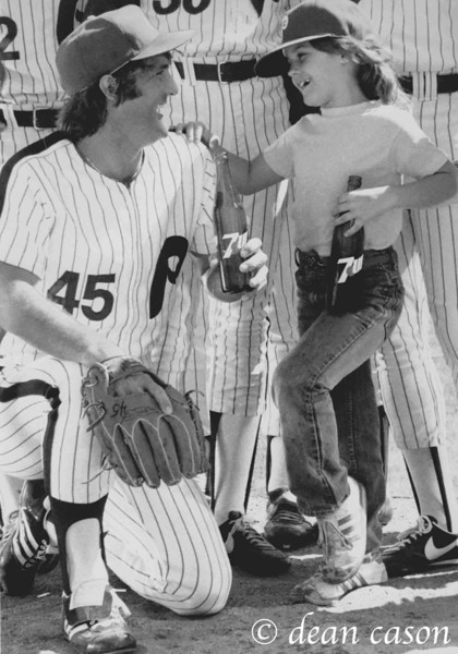 Tug McGraw and his daughter Cari.  Great guy gone too soon (8/30/44--1/5/04).