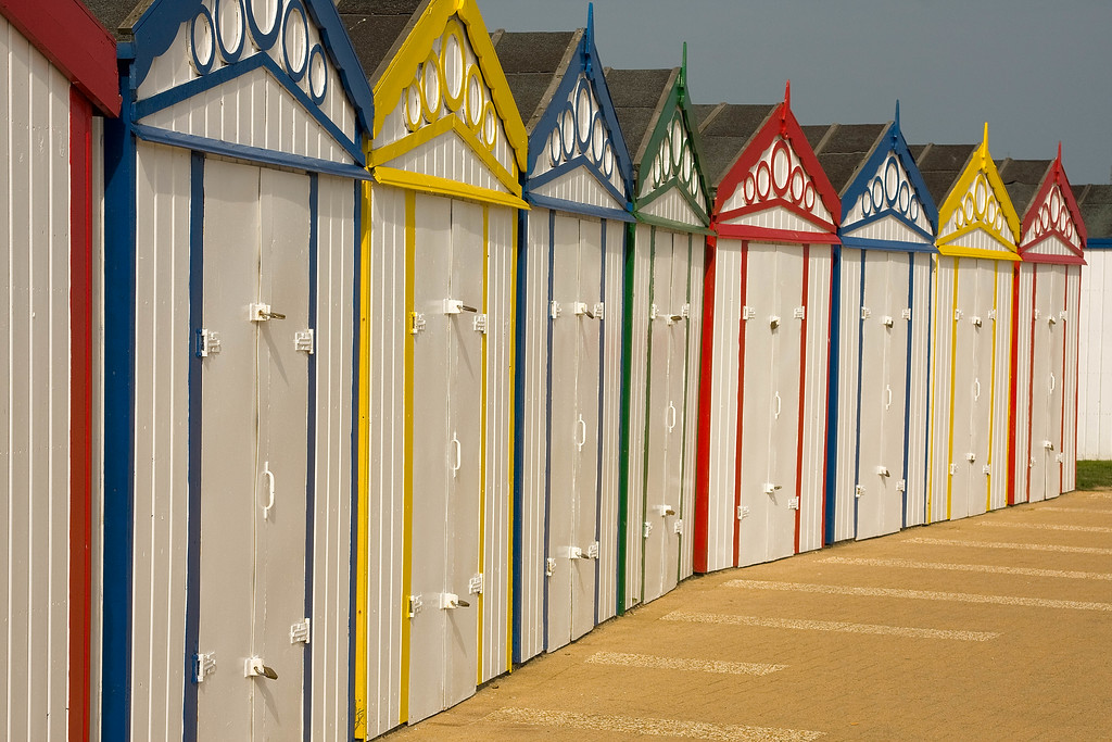 Beach Huts at Great Yarmouth. A little overcast but the colours are great.
