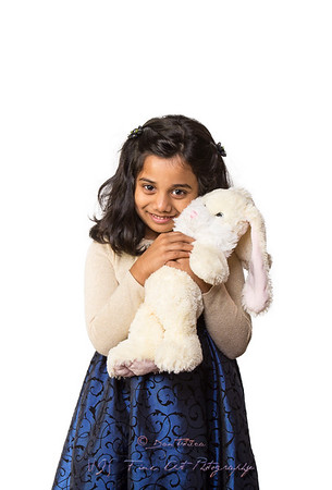 Indian Girl with Bunny
