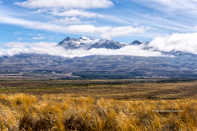 Mount Ruapehu - Through the clouds
