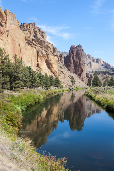 Smith Rock Palisade Reflected