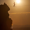 Monkey Face Slackline at Sunset