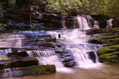 Beautiful waterfall on Little Trilium Creek, 1-1.5 miles up trail from Greenbrier entrance road in to the park.