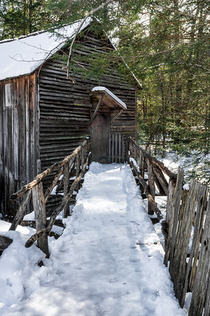 Snowy Path to Cable Mill - Cades Cove