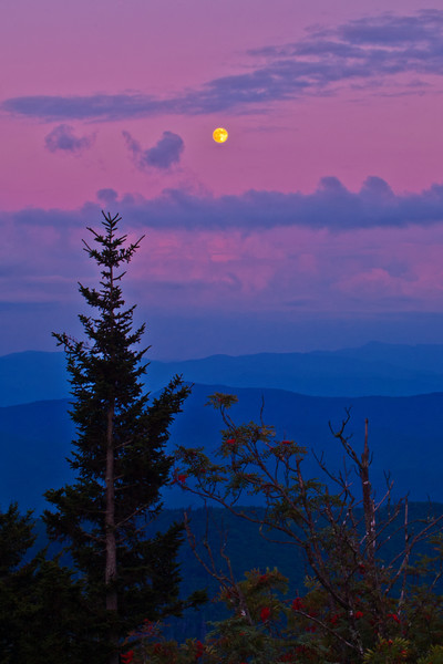 Clingman's Dome - Full Moon -  The Great Smoky Mountains National Park
