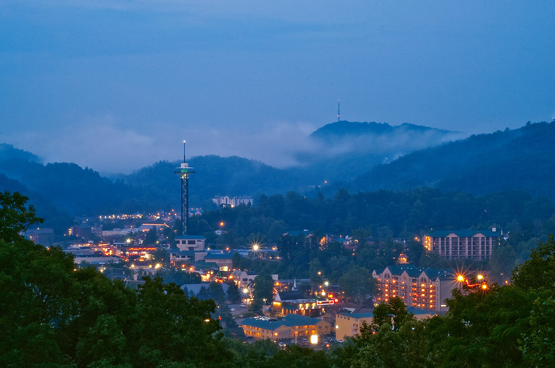Gatlinburg Overlook Under Moonlight