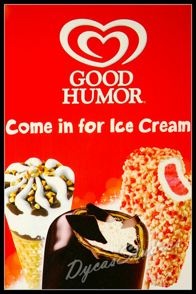 "Answer - August 31, 2014  Logo Chalenge Week #7<br /> <br /> GOOD HUMOR Ice Cream<br /> <br /> It all started in 1920 when Harry Burt created a chocolate coating compatible with ice cream. His daughter was the first to try it. Her verdict? It tasted great, but was too messy to eat.<br /> <br /> Burt's son suggested freezing the sticks used for their Jolly Boy Suckers (Burt's earlier invention) into the ice cream to make a handle and things took off from there…<br /> <br /> Good Humor® bars have been sold out of everything from tricycles to push carts to trucks. Take a look at how they've evolved over the years.<br /> <br /> In the early days, Good Humor® men were required to tip their hats to ladies and salute gentlemen. Not much has changed since then.<br /> <br /> The Good Humor® name came from the belief that a person's ""humor"", or temperament, was related to the humor of the palate (sense of taste). And we still believe in quality tasting products.<br /> <br /> By 1960 there were over 85 Good Humor® ice cream products. ""The Classics"" – Candy Crunch, Chocolate Eclair, Strawberry Shortcake, Toasted Almond – were re-launched in 1992.<br /> <br /> Info via: <a href=""http://www.goodhumor.com/article"">http://www.goodhumor.com/article</a>"