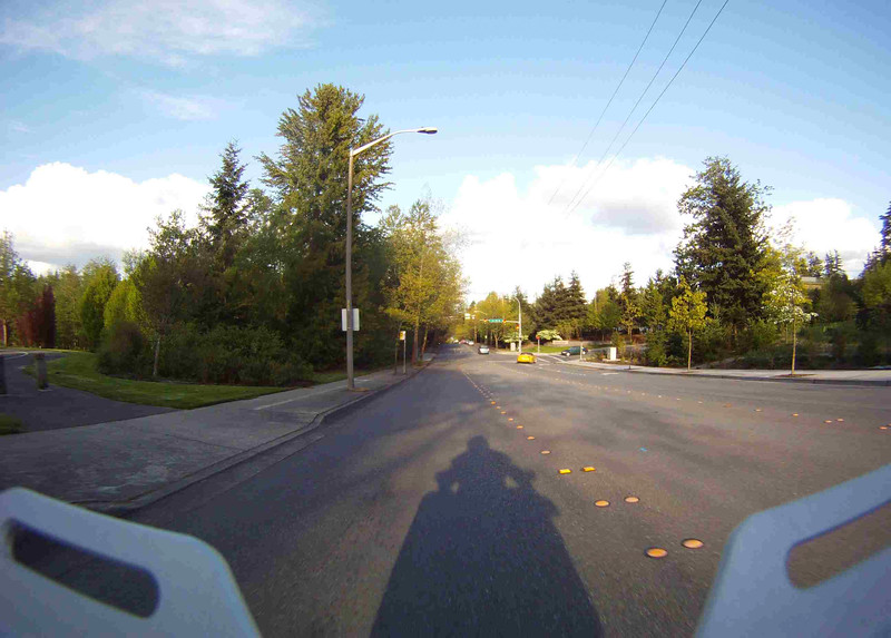 GoPro HD still from the backside of a motorcycle - nice shadow