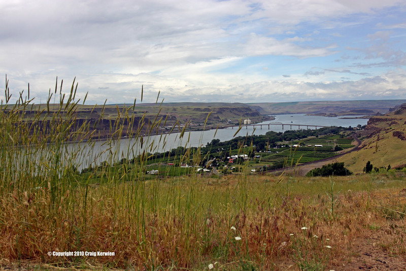 Columbia River from the Stonehenge Memorial in Maryhill, WA