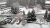 Winter scene from my office window, minature filter view. January 2012.