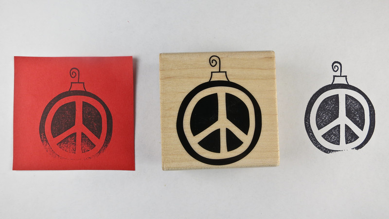 Peace on earth ornament stamp