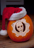 Gears of War pumpkin head, Santa edition.