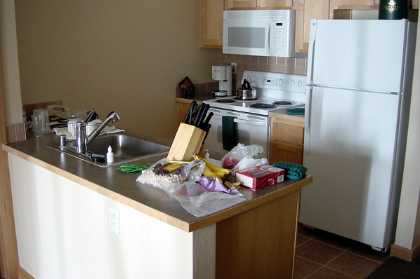 Our messy kitchen at Juniper Springs
