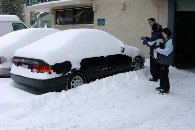 Now to dig our Civic out from under all of that snow