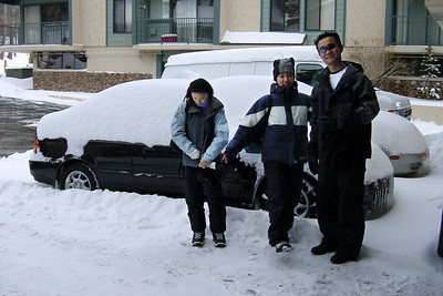 DAY 1 - It was snowing when we arrived at Mammoth Mountain during the early hours of March 23rd.  By sunrise, nearly a foot had fallen!