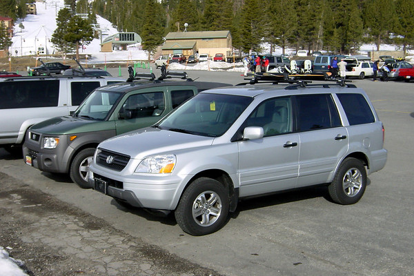 We've parked next to another member of the Honda family...the Element