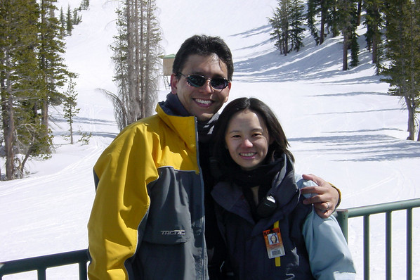 After eating our sack lunches at Outpost 14, Valerie and I pose for a picture