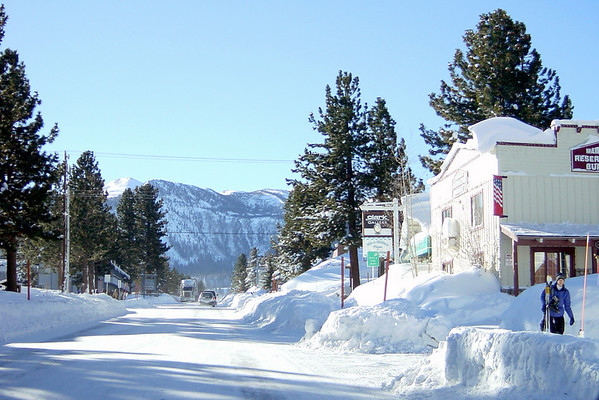 The old village is blanketed with new snow (52 inches over three days)