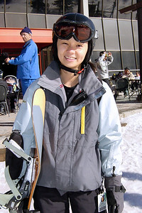 And now she's ready to hit the slopes