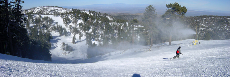 The snow guns are working overtime this morning to make sure Wyatt (pictured) and other runs have excellent coverage