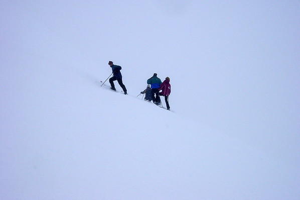 Hoping for a brief break in the clouds, I head to the Cornice