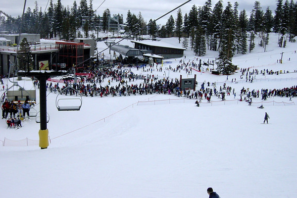 We didn't realize President's Day weekend is Mammoth's busiest...