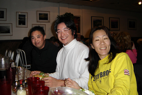 Andy, Daisuke, and Lori at Giovannis