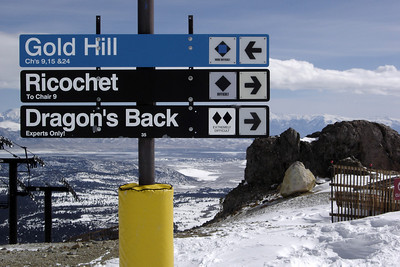 I decide to return to Ricochet (Valerie decides to snowboard on another part of the mountain)