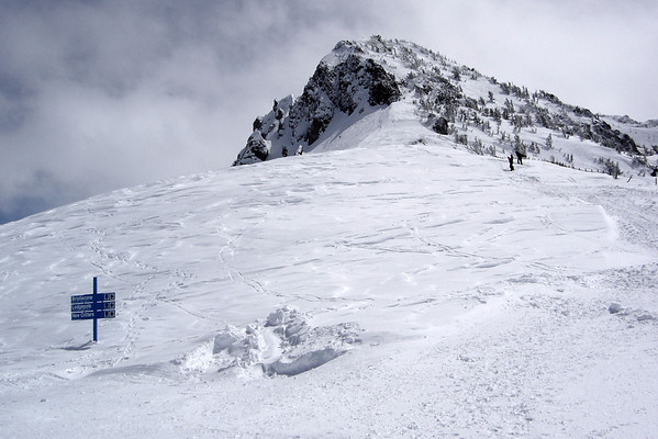 Looking up from the top of Chair 12