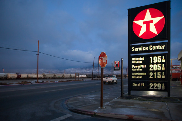 Gas prices increase on the way to Mammoth, but this is the lowest we have seen them in awhile