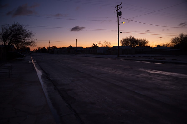 The last storm brought snow to Mojave...and the roads are icy
