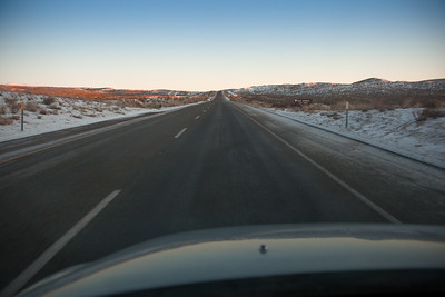 As we emerge from the canyon, we already see snow on the ground