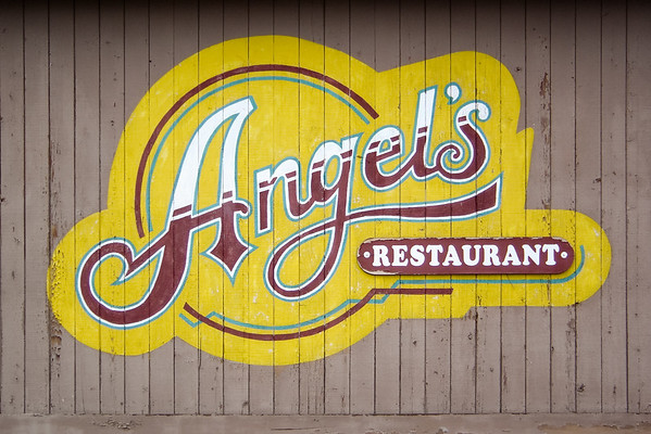 For dinner, we drive to Angel's Restaurant...even though it is located one driveway away from Motel 6