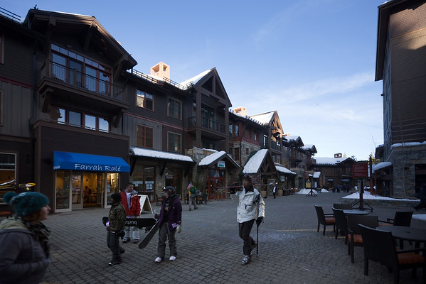 Like Mammoth's, there are residences, shops, and restaurants