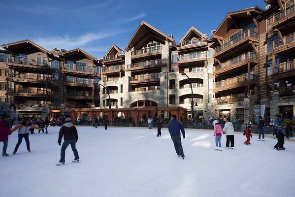 Unlike Mammoth's, Northstar's has an ice skating rink