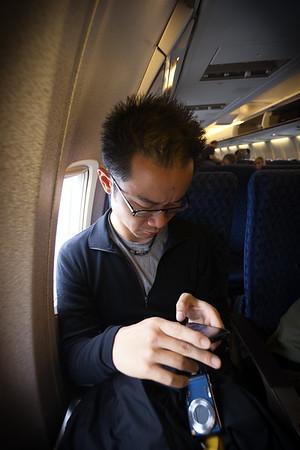 Pete is seated behind me
