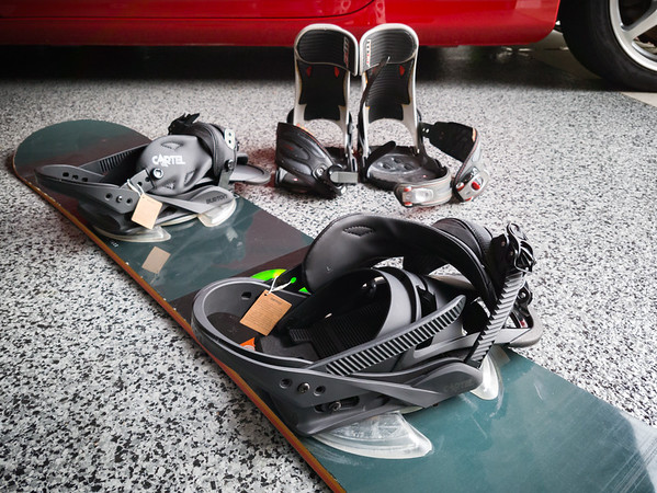 The most immediate need was to replace my Mission GT bindings, which repeatedly started falling apart while I was on the slopes during our last trip.  The final straw was having both straps break just before I strapped in at the top of a chairlift.  I hope I never have to ride down on the back of a snowmobile again!